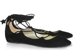 lace up ballerina flats   Lace Up Flats