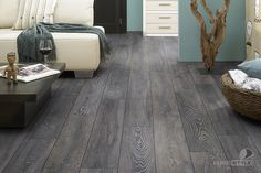 "gray wood flooring  | Bedrock Oak Floors - 7 ½"" Wide"