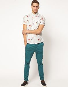 Worried this is going to be so short! Love it with those pants though / ASOS Shirt With 50's Print