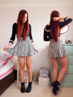 260fa99e97f Candy Couture Jacquard Skater Skirt