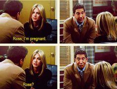 Friends - Rachel tells Ross she's pregnant