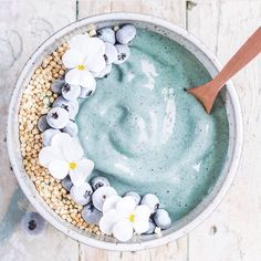 "374 Likes, 4 Comments - Pureology Canada (@pureologycanada) on Instagram: ""In love with this ocean inspired smoothie bowl by @choosingchia ! #pureologycanada #aimhigher…"""