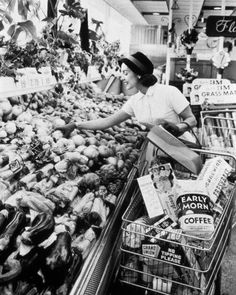 Hmm. I must say  the skill of produce display has come a long way since the '50's.