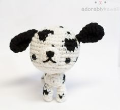 Dalmatian Amigurumi by adorablykawaii.deviantart.com