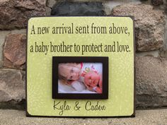 Personalized New Sibling Picture Frame A New by YourPictureStory, $60.00