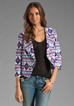 Rory Beca Lance Embroidered Jacket in White