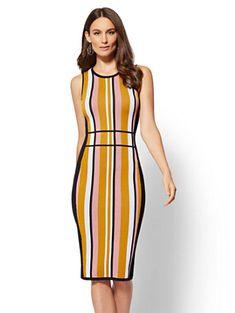Stripe Sweater Sheath Dress New York Company Style Board In 2019