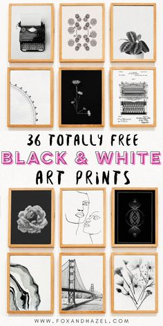 36 Free Black & White Art Prints for Your Home! 36 Free Black & White Art Prints for Your Home! Printable Gallery Walls 36 Free black & white art prints for your gallery wall,. Free Art Prints, Wall Art Prints, Wall Art Posters, Quote Wall Art, Modern Art Prints, Modern Wall Art, Diy Wall Art, Wall Art Decor, Wall Art For Bedroom