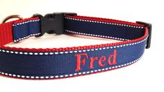 Personalized+Dog+Collar+with+name+and+phone++by+TheMonogrammedMutt,+$28.00