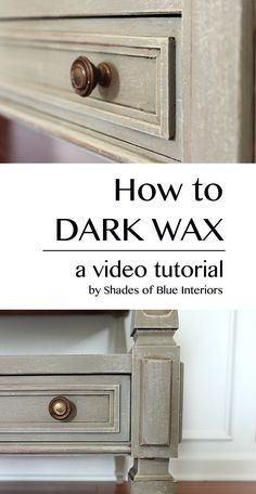 A video tutorial of how to correctly use dark wax, including what not to do, and how to fix mistakes.