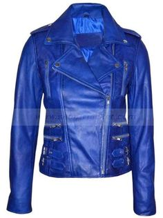 Womens Biker Leather Jacket for sale at Affordable Price $199.00 Classic Vintage Retro Blue Motorcycle Jacket Buy Online Now. BikerLeather #VintageRetro #Blue #MotorcycleJacket #WomensLeatherJacket #Jackets #LeatherJacket #BikerBlueJacket #WomensJacket