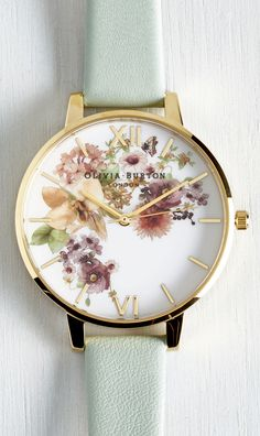 Mint floral watch. Olivia Burton