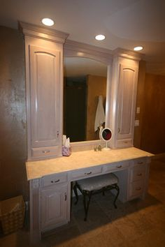 bathroom vanity with seating