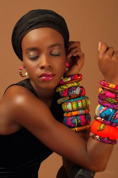 .African bracelets