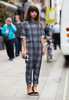 checked boilersuit