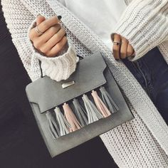 GET $50 NOW | Join RoseGal: Get YOUR $50 NOW!http://www.rosegal.com/tote/tassel-suede-metal-embellished-tote-931656.html?seid=4514413rg931656