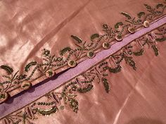 Waistcoat of pink silk with boillion thread and sequin embroidery.