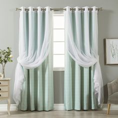 Best Home Fashion 84 in. L uMIXm Tulle and