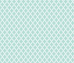 Mint Moroccan fabric by jenniferstuartdesign on Spoonflower - custom fabric