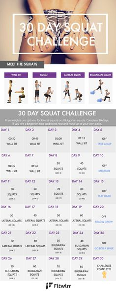 Healing Your Body: 30 Day Squat Challenge - Take Your Butt from Flat ...