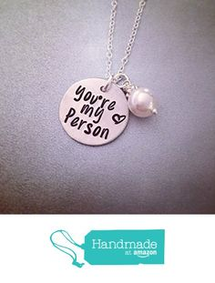 "NOW ON AMAZON PRIME! You're My Person Necklace - Ready to Ship - Personalized Necklace - Hand Stamped Jewelry - Greys Anatomy Inspired ""You're My Person"" Necklace from Kristine's Keepsakes http://www.amazon.com/dp/B01CBOZZU2/ref=hnd_sw_r_pi_dp_vWg7wb0X9RTYD #handmadeatamazon"