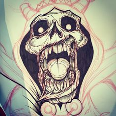 WIP of the Lich sketch from Adventure Time