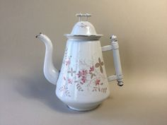 Old French Enamel Water / Coffee Pot
