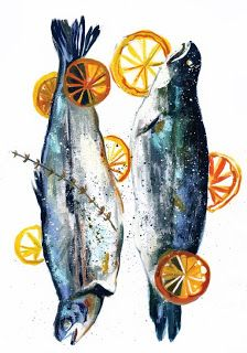 Louise Cunningham, food illustration