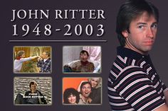 "Jonathan Southworth ""John"" Ritter, born on September 17, 1948 in Burbank, CA. was the son of legendary singer/actor Tex Ritter and wife actress Dorothy Fay.   John Ritter became famous as Jack Tripper in the 1977 TV sitcom, ""Three's Company"".   On September 11, 2003, Ritter felt ill while on set rehearsing scenes for the 2nd season of his new sitcom (8 Simple Rules for Dating My Teenage Daughter) and he died later that evening, from a previously undiagnosed congenital heart defect. He was…"