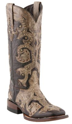 *NEW* Lucchese Since 1883 Tobacco and Desert Oklahoma Calf Studded Scarlett Cowgirl Boots M5811