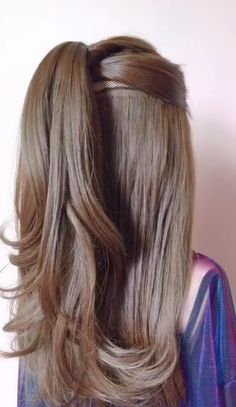 Cool Hairstyles For Girls, Bun Hairstyles For Long Hair, Braids For Long Hair, Wedding Hairstyles, Beautiful Hairstyles, Hairstyle Ideas, Long Bob Updo, Back To School Hairstyles For Teens, Newest Hairstyles