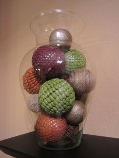 Little House on the Corner: Shelf Display #1: DIY Decorative Vase Filler