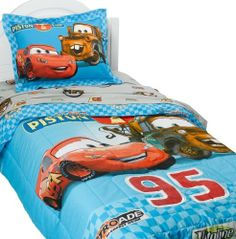 Cars Buddies Twin Comforter Set, Blue by Cars, http://www.amazon.com/dp/B001FB5XKU/ref=cm_sw_r_pi_dp_UFo9qb0PFG8XH