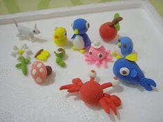 air-dry clay animals