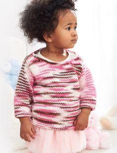 Layered Stripes Baby Knit Pullover | AllFreeKnitting.com