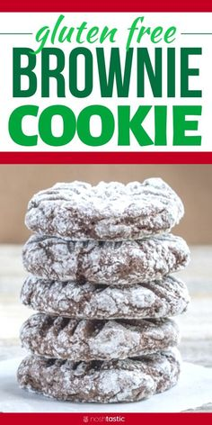 Unbelievably Tasty Gluten Free Brownie Cookies Recipe with lots of chocolate that your family will love, and with no brownie pan to clean, make them TODAY! Gluten Free Deserts, Gluten Free Cookie Recipes, Gluten Free Sweets, Foods With Gluten, Gluten Free Baking, Gluten Dairy Free, Brownie Sans Gluten, Cookies Sans Gluten, Dessert Sans Gluten