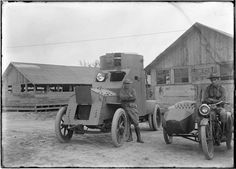 Armored car in 1918 - at the South Texas Border  ... hmmm ... an idea whose time has come again ?