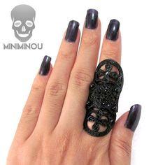 Anel articulado Medieval Black