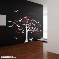 Amazon.com: Tree of Bats Wall Decal: Furniture & Decor