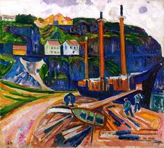 Ship being Scrapped Edvard Munch - 1909-1911