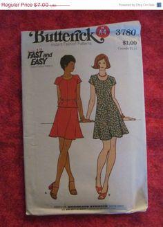 Sale Uncut 1970's Butterick Sewing Pattern 3780 by EarthToMarrs, $5.60