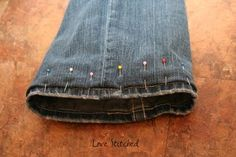 How to hem pants while preserving the original hem.