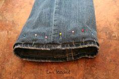 Hem jeans with original hem