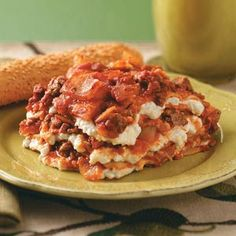 Slow Cooker Lasagna Recipe from Taste of Home -- shared by Lisa Micheletti, Collierville, Tennessee
