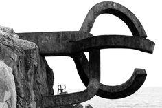 Peine del viento · Eduardo Chillida · acero sobre el Cantábrico