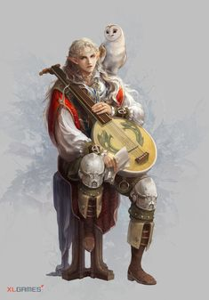 Elf bard owl familiar