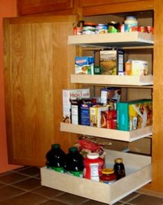 kitchen storage: Pull Out Shelves Advantages for kitchen storage
