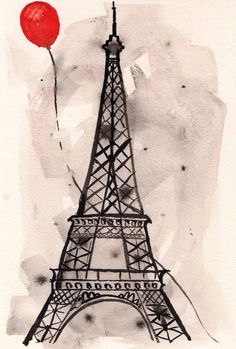 paris red balloon drawing - Google Search
