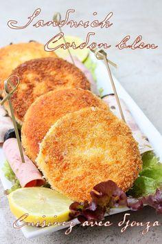 Idée recette de sandwich rapide et facile à faire avec du pain de mie pané façon cordon bleu. Froid ou chaud, la garniture des sandwichs pourra varier selon