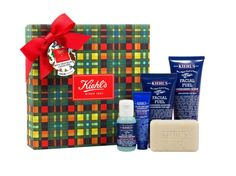 """Update your Dopp kit with Kiehl's Must Haves Collection for men. Facial scrub, moisturizer, face wash, shave cream, and an exfoliating scrub soap—it's all the essentials, ready to be taken wherever you go.Kiehl's Men's """"Must Haves"""" Collection (kiehls.com, $39)"""